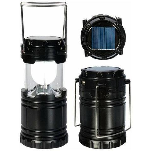 Lampião Luminária Elétrico Recarregável Solar Led Lançamento - Foto 2