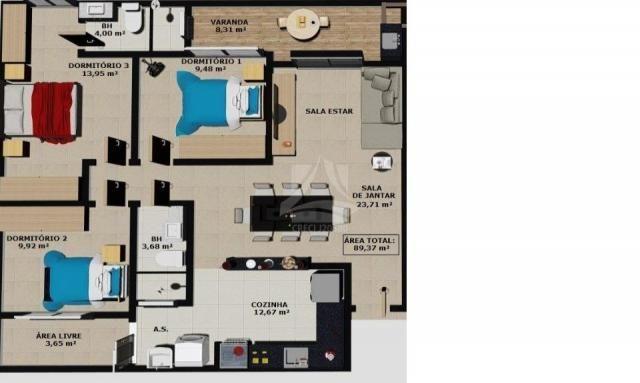 Apartamento à venda com 3 dormitórios em Parque dos bandeirantes, Ribeirão preto cod:58707 - Foto 2
