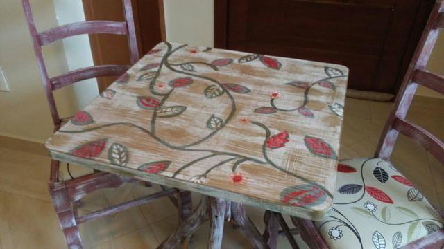 Jg mesa 2 cadeiras repaginado - Foto 6