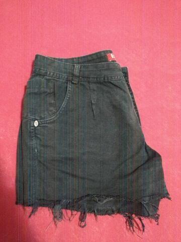 Shorts Jeans Preto - Foto 2