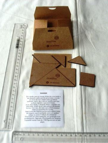 Brinquedo - Tangram De Madeira - Usado - Foto 4