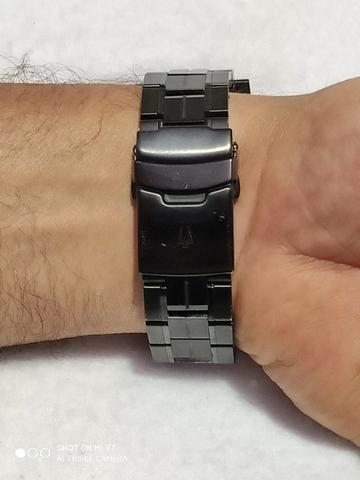 Relógio Bulova Masculino Precisionist Chrono Todo Preto S/s 98B143 Original - Foto 3