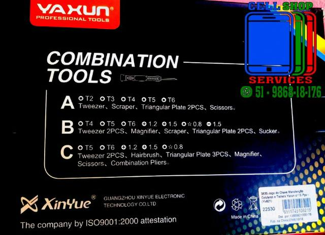 Kit De Chaves Celular Yaxun Yx-821 C - 15 Itens - Foto 2