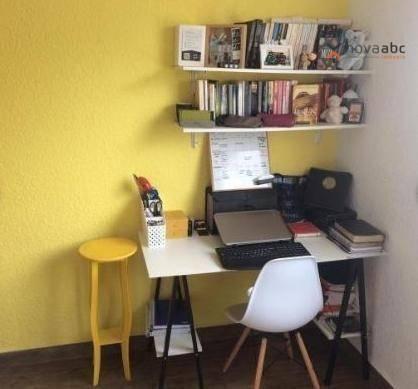 Apartamento com 2 dormitórios para alugar, 40 m² por R$ 850/mês - Vila Lutécia - Santo And - Foto 13