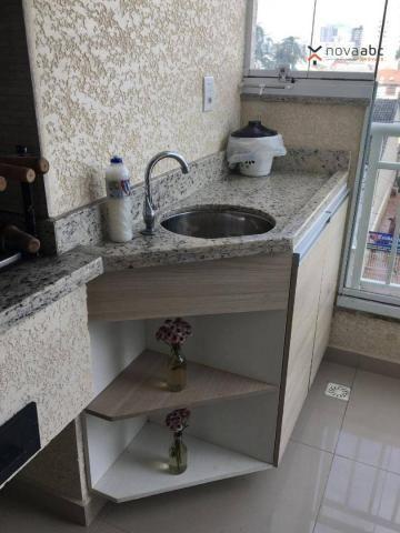 Apartamento com 2 dormitórios para alugar, 63 m² por R$ 2.100/mês - Campestre - Santo Andr - Foto 16