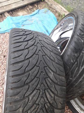 Rodas 22 pneus novos R$2.500 - Foto 3