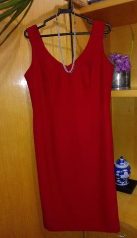 Novo! Vestido vermelho do atelier da Neimar Sinicio / Tamanho 38/40