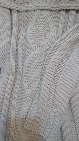Sobrelegging Marfim em lã trabalhada - Foto 2