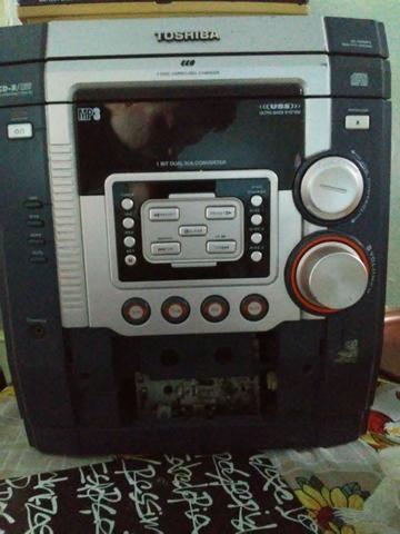 Som Semp Toshiba / carrossel 3 cds / 1 caixa de som / funcionando