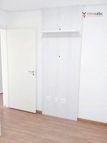 Apartamento com 3 dormitórios para alugar, 85 m² por R$ 2.500/mês - Jardim - Santo André/S - Foto 17
