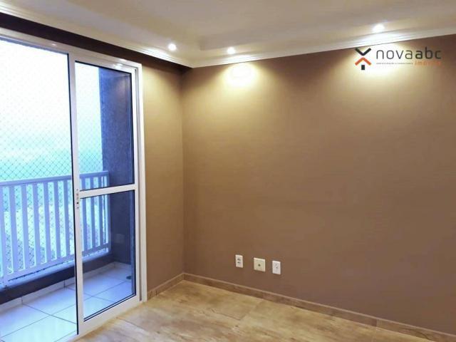 Apartamento com 2 dormitórios para alugar, 46 m² por R$ 900/mês - Vila João Ramalho - Sant