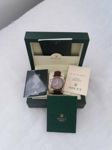 Rolex 1.500.00 bracelete em couro