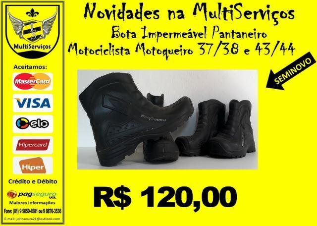 5c17b527f Bota Impermeável Pantaneiro Motociclista Motoqueiro - Peças e ...