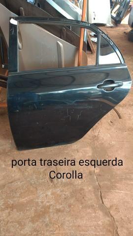 Porta traseira esquerda corolla