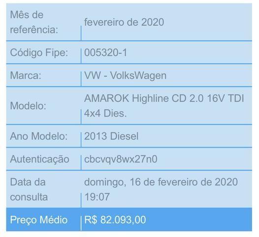 Amarok Trendline 16v TDi 4x4 Diesel - Foto 6