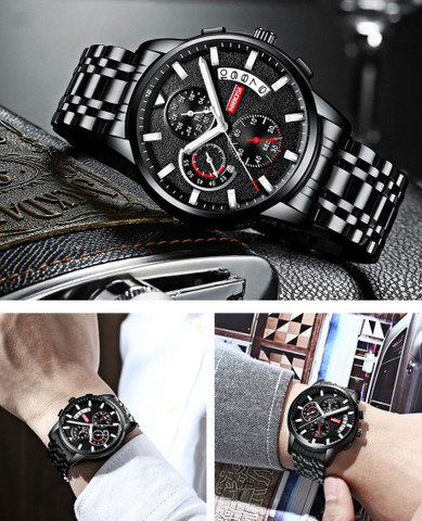 Relógio Original Nibosi Multifuncional - Foto 5