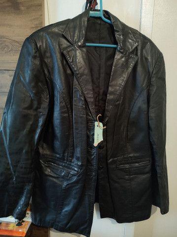 Jaqueta de couro feminina n42