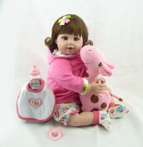 Boneca Bebê Reborn 52 cm + brindes Alta Qualidade Linda