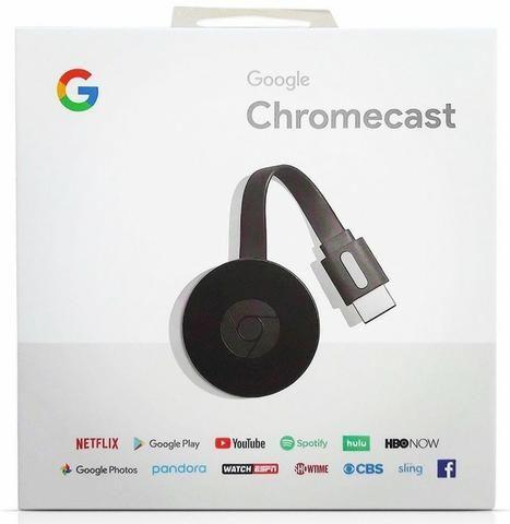 Google Chromecast 2 Geração 2018 Youtube Netflix Play Store, Spotify Original