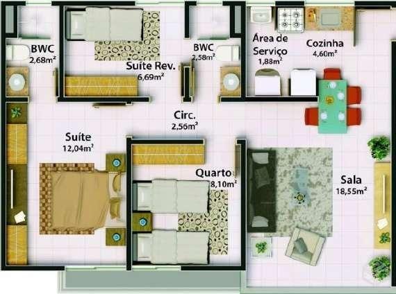 Apartamento Edifcio Bromelia