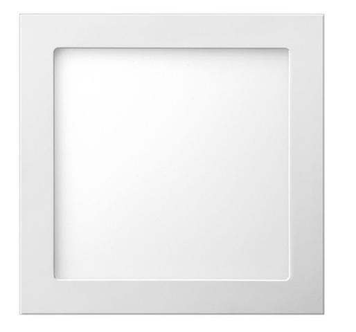 Luminária painel led de embutir 18w luz branca llum Bronzearte