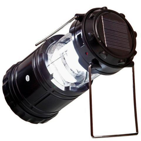 Lampião Luminária Elétrico Recarregável Solar Led Lançamento - Foto 4