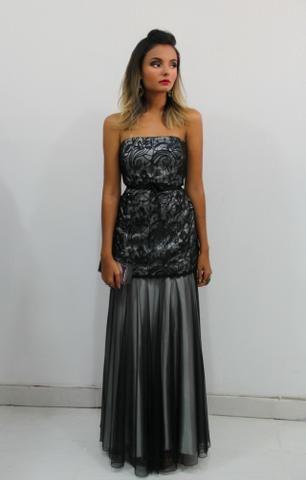 ee34b64b3360 Vestido de Festa Preto Casamento madrinha formatura - Roupas e ...