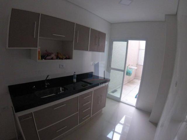 Apartamento com 2 dormitórios para alugar, 68 m² por r$ 1.125/mês - parque são vicente - m - Foto 3