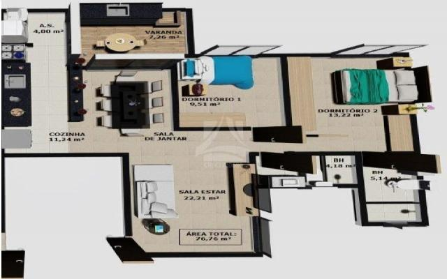 Apartamento à venda com 2 dormitórios em Parque dos bandeirantes, Ribeirão preto cod:58712 - Foto 2