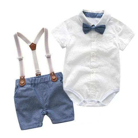 Conjunto bebê suspensório social - Foto 2