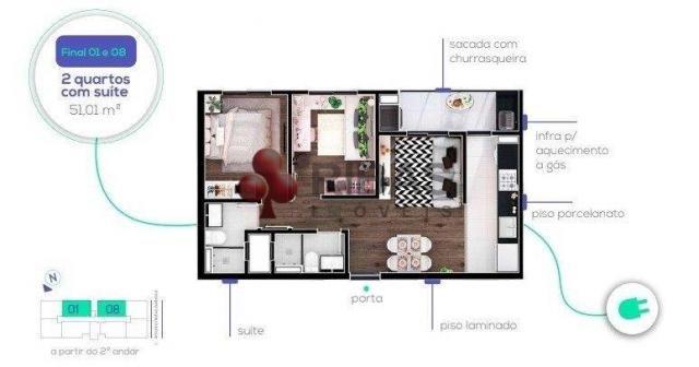 Apartamento à venda com 2 dormitórios em Capão raso, Curitiba cod:15426 - Foto 16