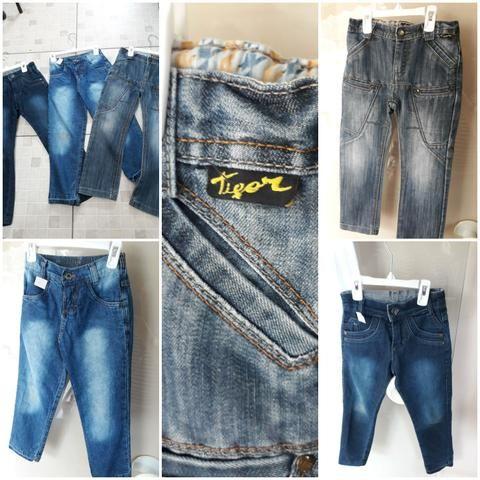 Lote 3 calças jeans