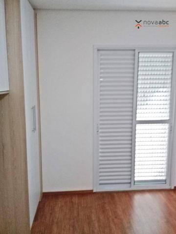 Apartamento com 3 dormitórios para alugar, 85 m² por R$ 2.500/mês - Jardim - Santo André/S - Foto 14