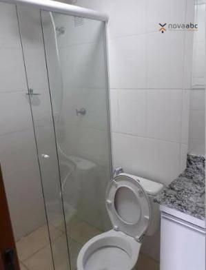 Apartamento com 2 dormitórios para alugar, 50 m² por R$ 1.000/mês - Utinga - Santo André/S - Foto 9