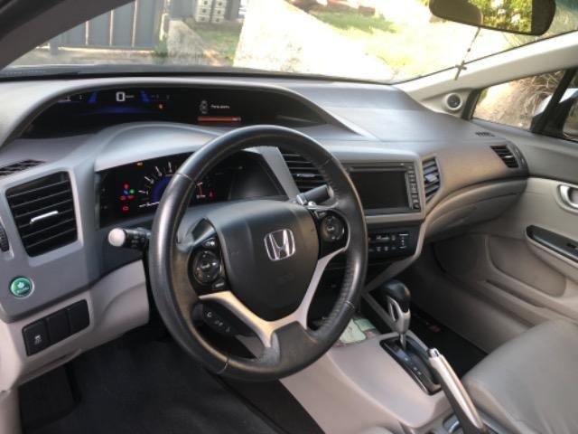 Honda CIvic 2012- Modelo EXS mais Completo com Teto Solar e Banco de Couro - Foto 10