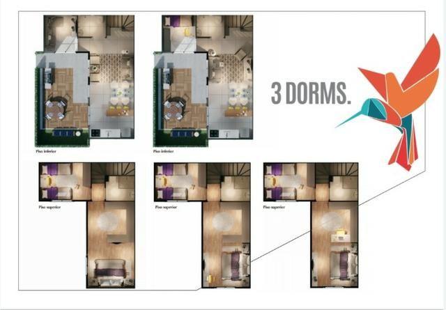Sobrados de 2 e 3 Dormitórios com Quintais de Vários Tamanhos - Foto 10