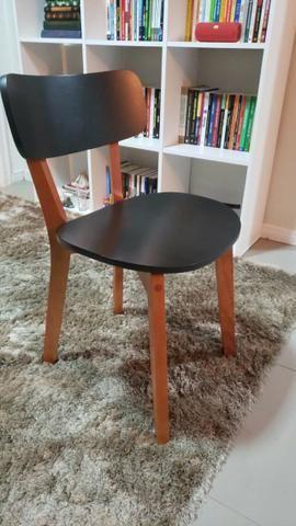 Vendo Cadeira Nozes Preto Hibisco (Tok&Stok) - Foto 2