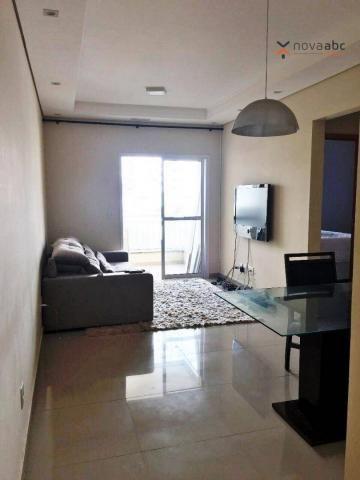 Apartamento com 2 dormitórios para alugar, 63 m² por R$ 2.100/mês - Campestre - Santo Andr - Foto 3