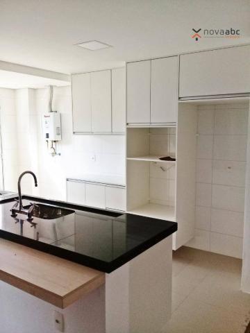 Apartamento com 3 dormitórios para alugar, 85 m² por R$ 2.500/mês - Jardim - Santo André/S - Foto 9