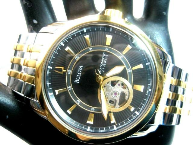 Relógio Bulova Automático Modelo 98A101 Masculino - Foto 6