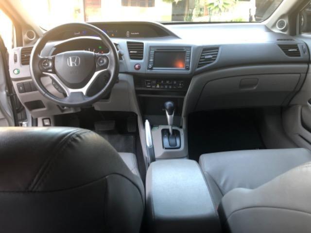 Honda CIvic 2012- Modelo EXS mais Completo com Teto Solar e Banco de Couro - Foto 13