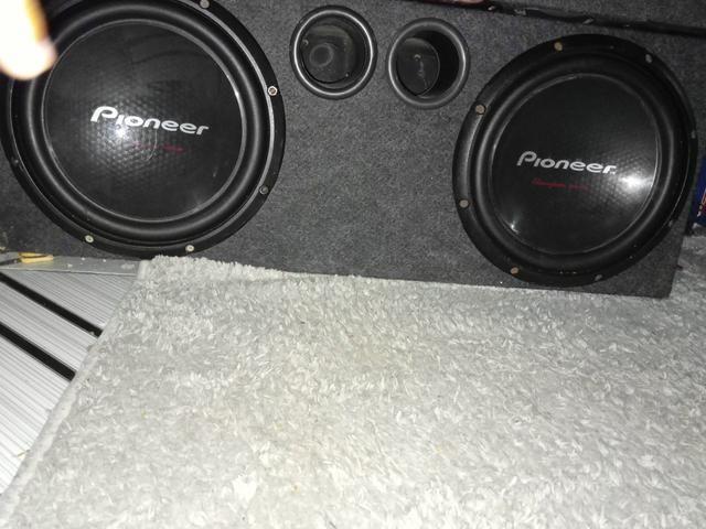 Vendo Sub Pioneer cara preta funcionando perfeitamente nunca recondicionado com box,250 $ - Foto 5