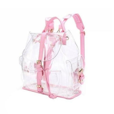 cff339ba8 Mochila transparente/rosa - Bolsas, malas e mochilas - Rebouças ...