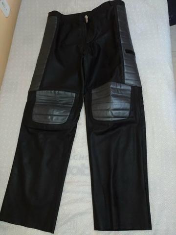 Conjunto calça e jaqueta 100% couro - Foto 4