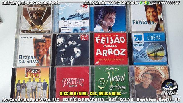 CDs, DVDs e Discos de Vinil Variados, Venha Cinhecer Nosso Acervo