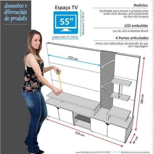 """Home Lukaliam Cross 2,1m TV Até 55"""" - Foto 5"""