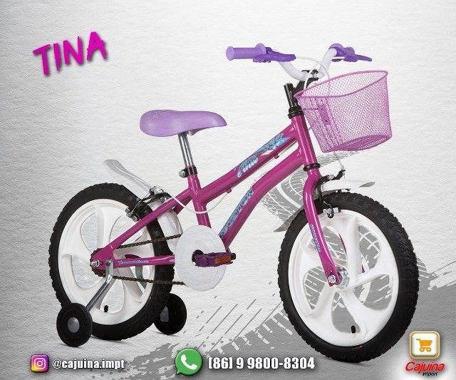 Bicicleta Infantil Aro 16 Houston Rosa  M09sd10sd21 - Foto 2