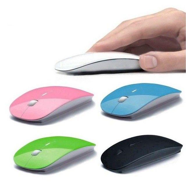 Mouse transmissão sim fio a pilhas