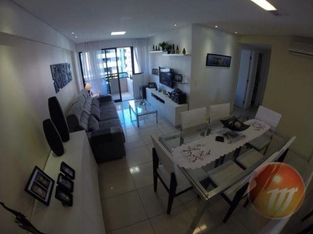 Excelente apartamento com 79 m², 3/4 (sendo um suíte), bem localizado na Ponta Verde