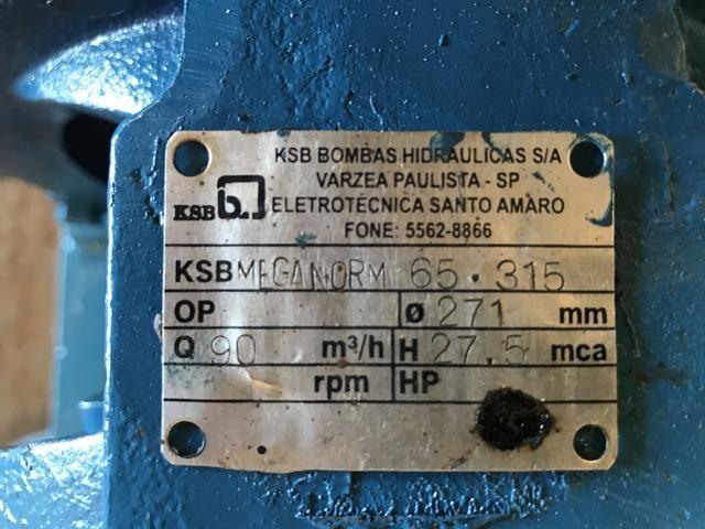 Bomba para sistema dear condicionado ksb 65/315 meganorm - Foto 2